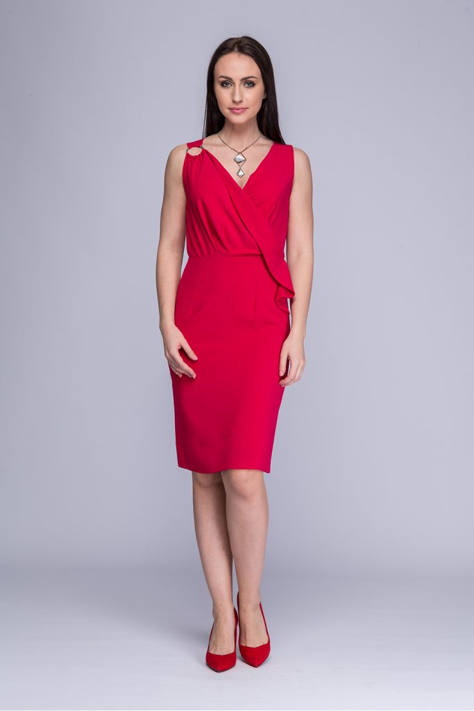 003 suknia Malibu ciemny róż
