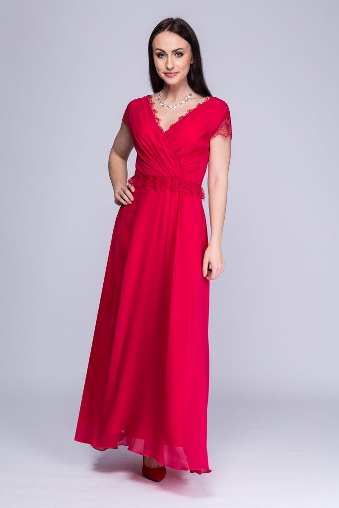 004 suknia Carolla amarant