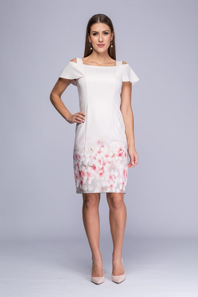 006 suknia Rafaella róż kwiaty