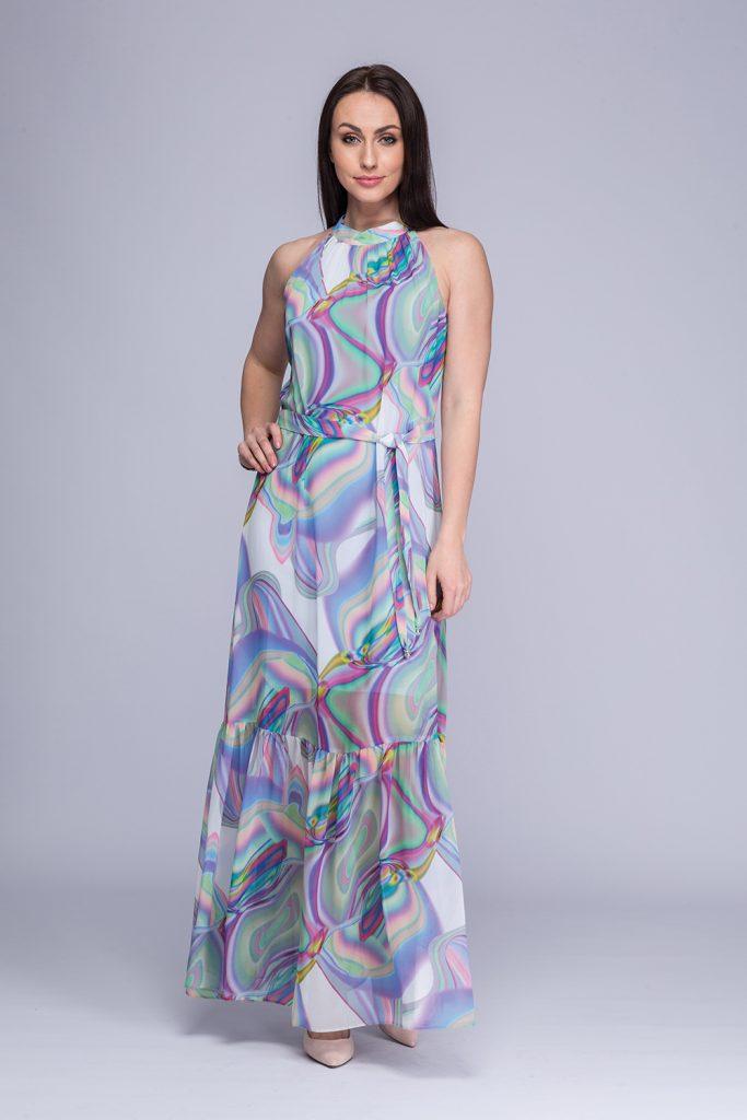 013 suknia Viga kolorowe fale