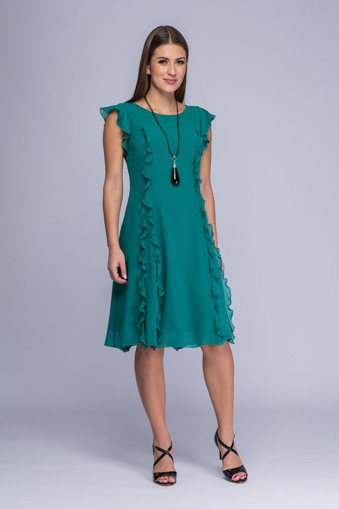 019 suknia Tina krótka morska zieleń