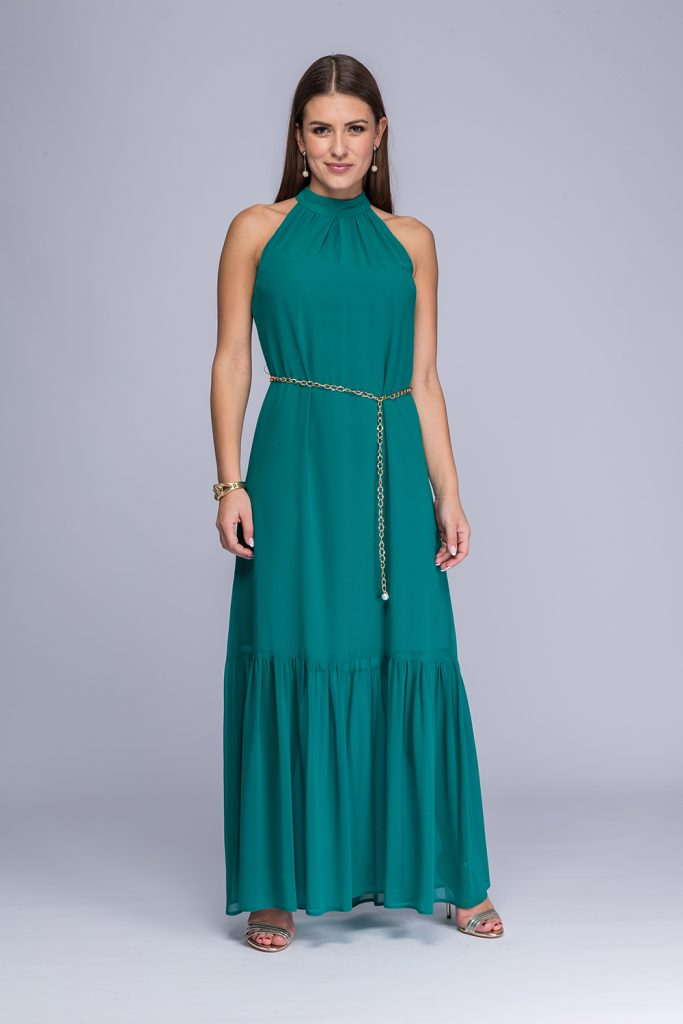 020 suknia Viga morska zieleń
