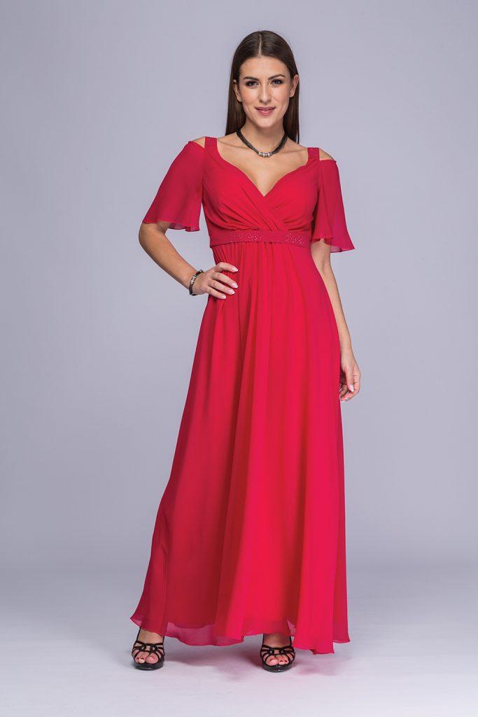 026 suknia Gela amarant