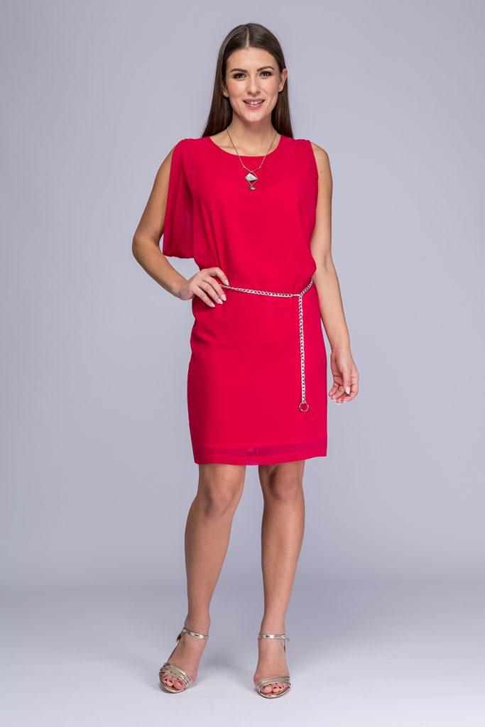 027 suknia Sara amarant prz