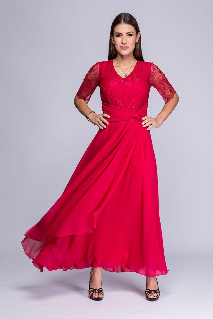 028 suknia Isla amarant