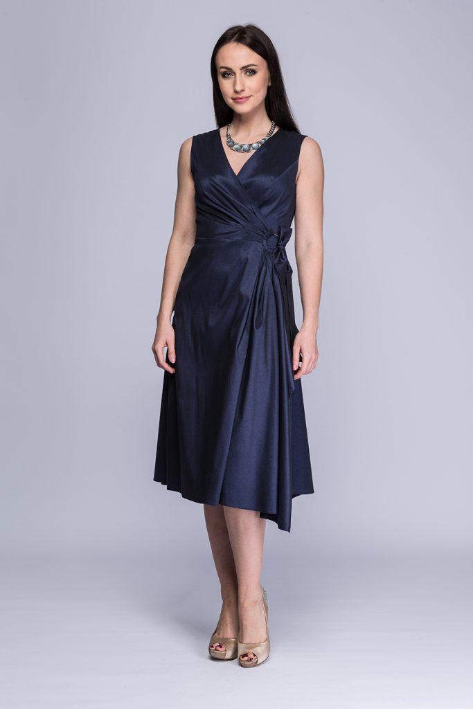 029 suknia Kinga granatowa