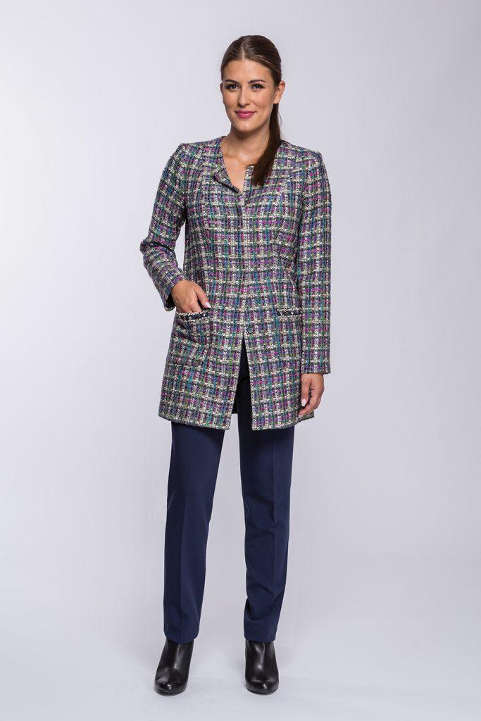 12 płaszcz Waleria kratka Chanel