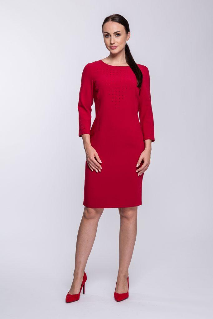4 suknia Olimpia czerwona prz
