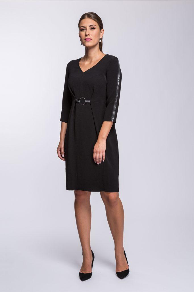 7 Suknia Paris czarna