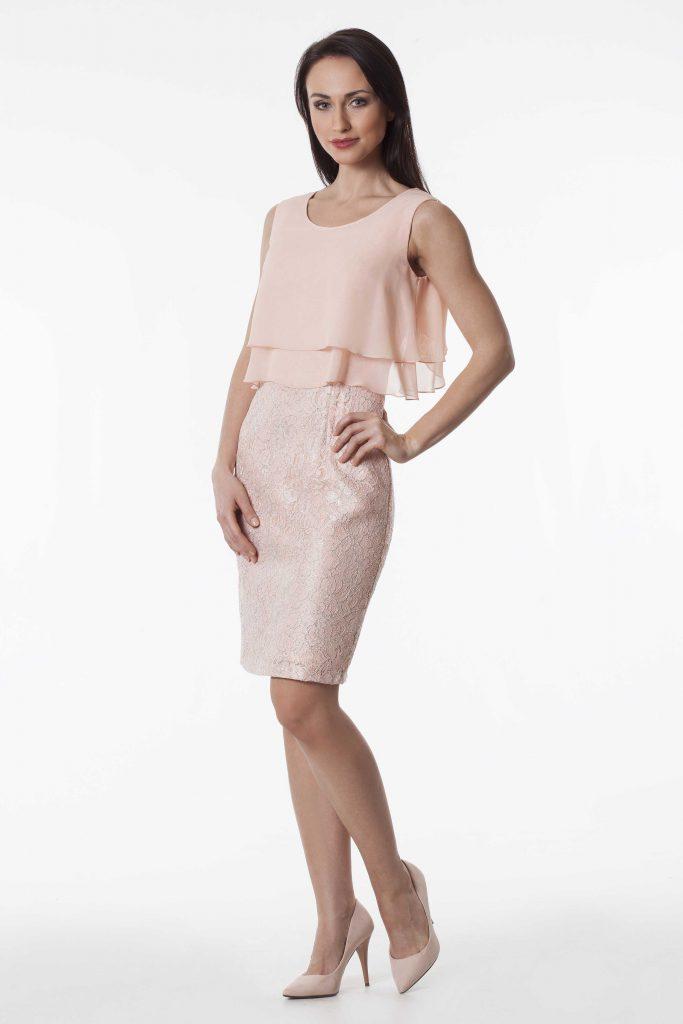 semper sukienka brzoskwiniowy kolor