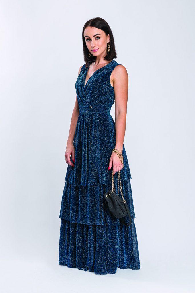 suknia Ivette morska prz